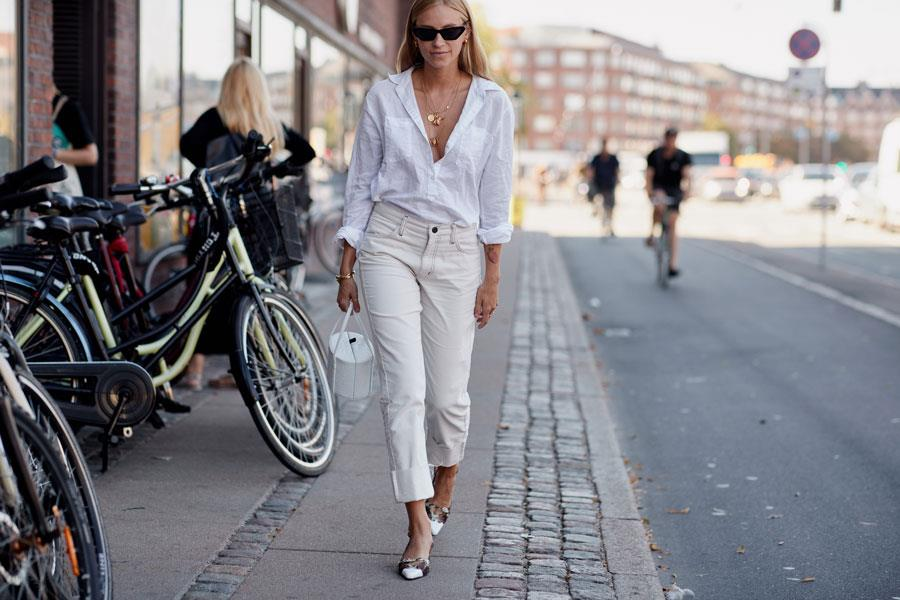 Cómo combinar un pantalón blanco de moda verano 2019 - InStyle