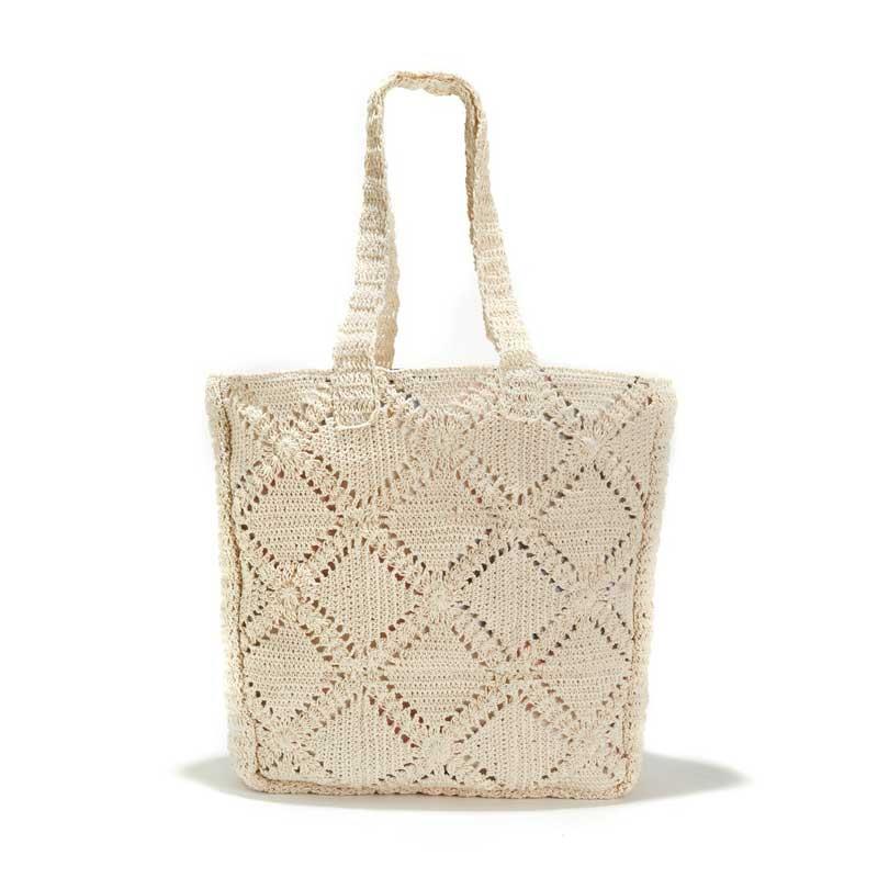 7eaae2753 bolso-shopper-crochet-la-redoute. Bolsos grandes para verano 2019