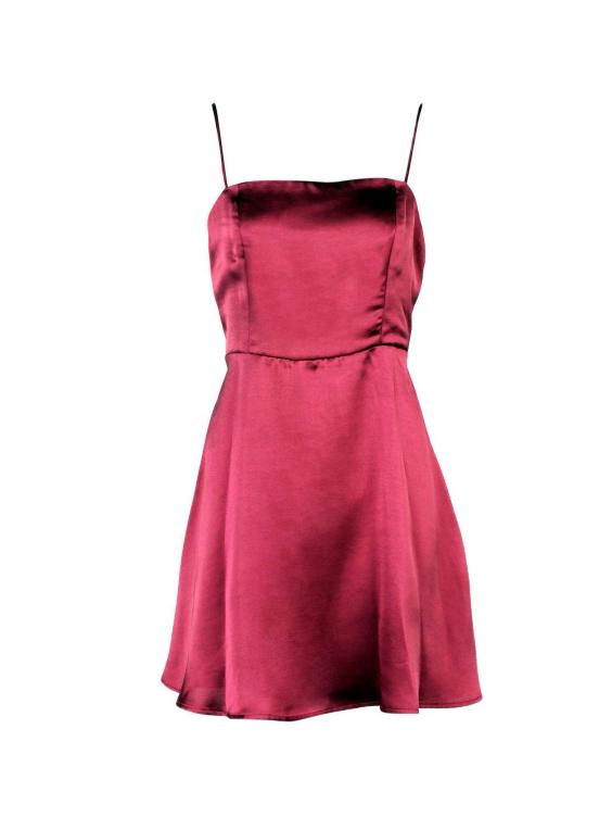 2c690bf60c vestido-saten-rojo-corto. Vestido satinado rojo y corto