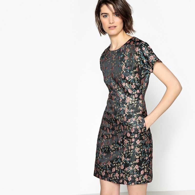 330a2f93b vestido-flores-la-redoute. Vestido flores corto