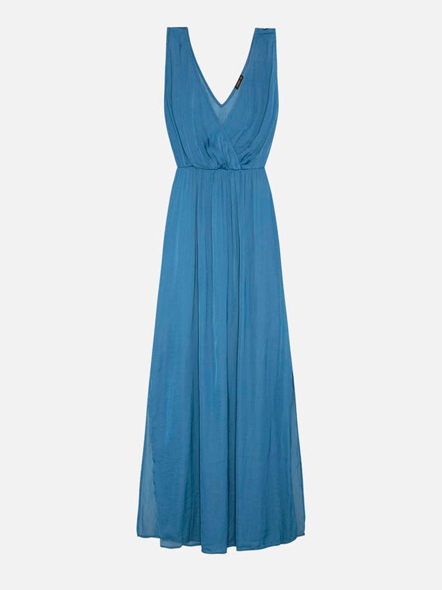 f65ea6c3b vestido-largo-azul-oysho. Vestido largo de invitada