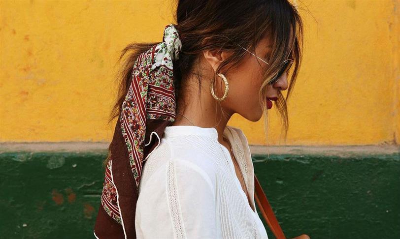 f6e890de8c38 Pañuelos en la cabeza  mil formas de llevarlos vistas en Instagram ...