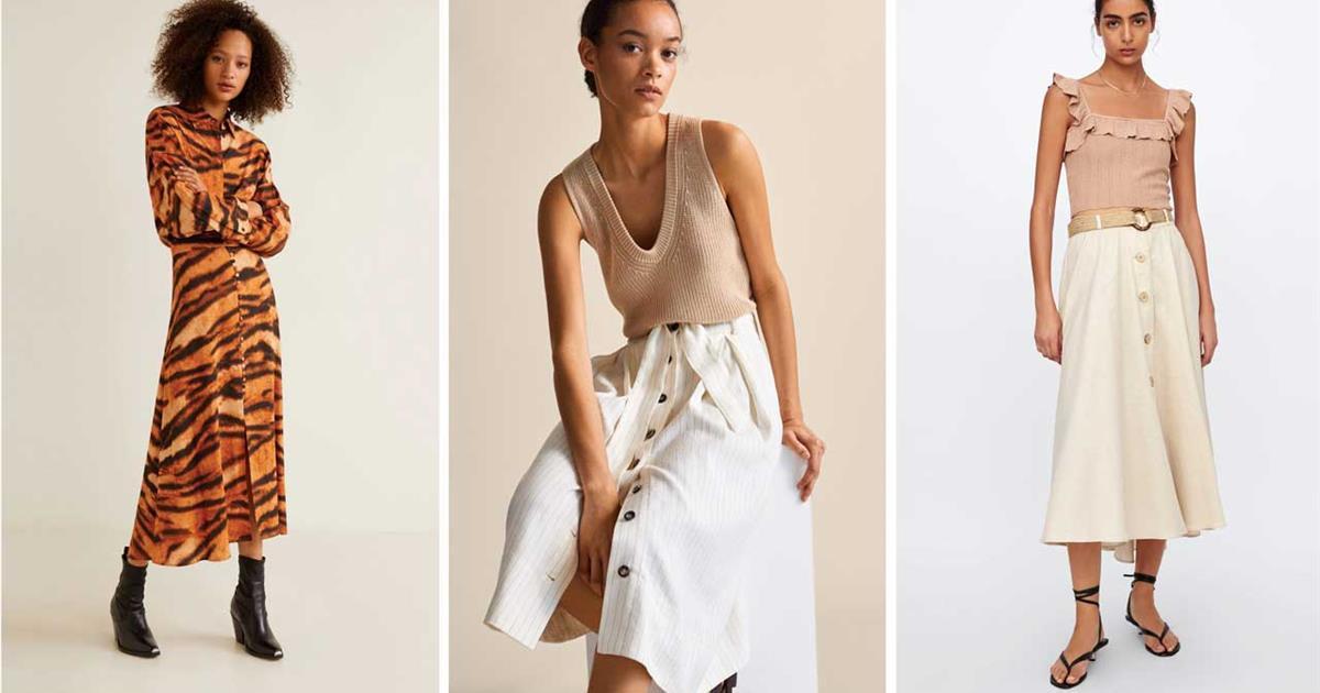 Si hay una falda de moda este verano, es esta y se lleva así