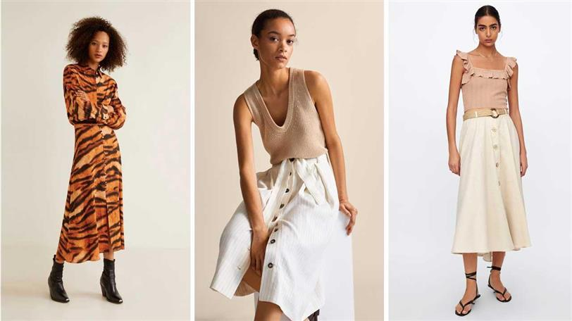 super popular 8cc81 cabf5 Faldas con botones de moda verano en Zara, Mango, Bershka ...