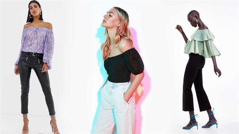 788de3a63a76 Blusas de escote bardot de moda verano 2019 - InStyle