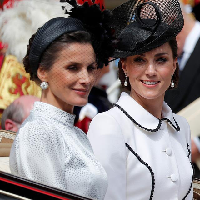 Letizia Ortiz y Kate Middleton, radiantes en Londres