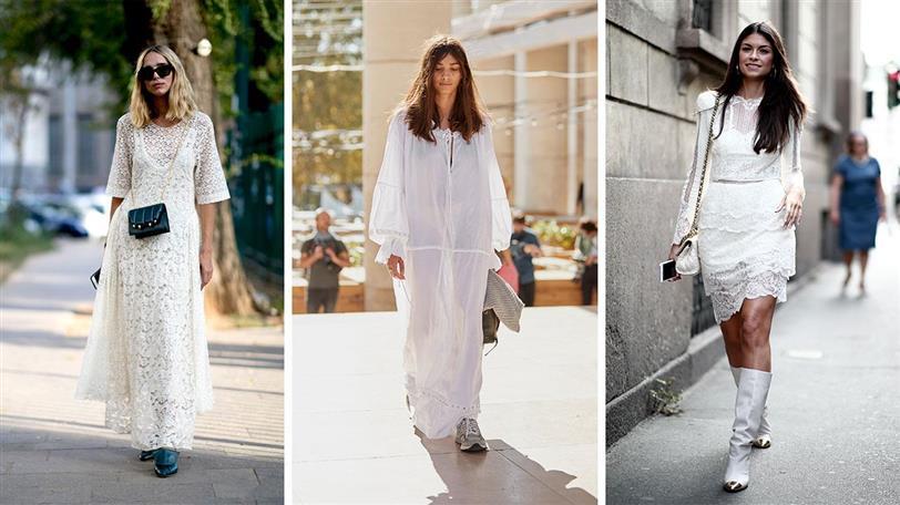 Cómo combinar tu vestido blanco de moda este verano 2019