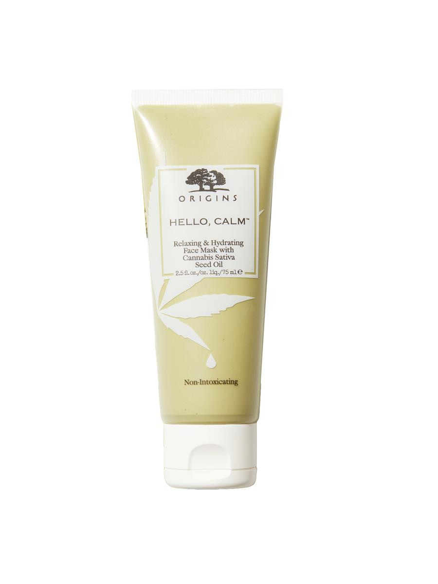 crema-cannabis-origins. Hello Calm Relaxing & Hydrating Face Mask, de Origins