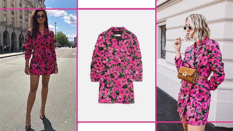Nachbar Platz Formulieren  Zara arrasa en Instagram con un vestido de flores inspirado en Saint Laurent