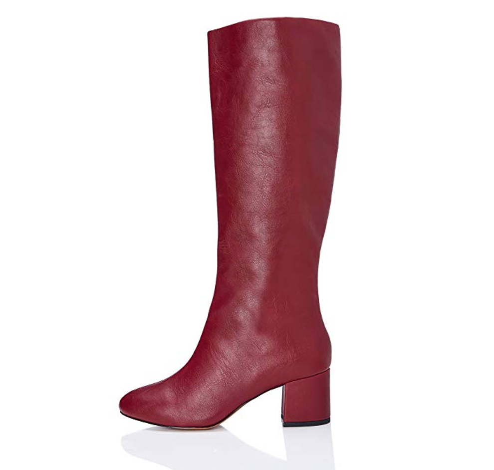 Botas altas rojas de Amazon