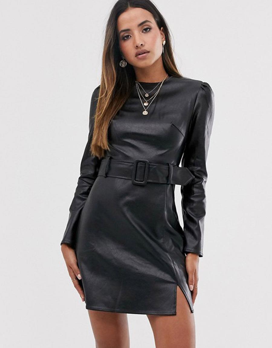 barato mejor valorado bastante baratas mirada detallada Vestidos de cuero de moda otoño 2019 en Zara, El Corte ...