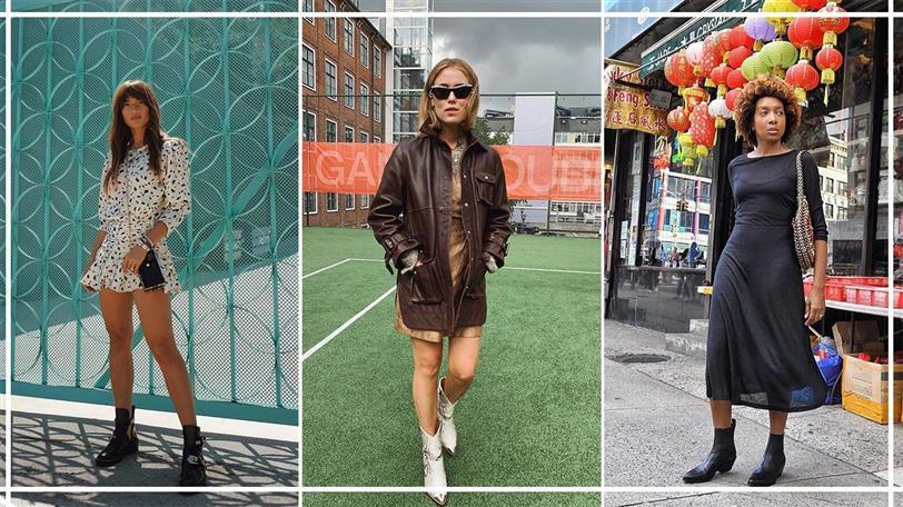 Botines De Moda Con Vestidos De Otoño 2019 La Combinación