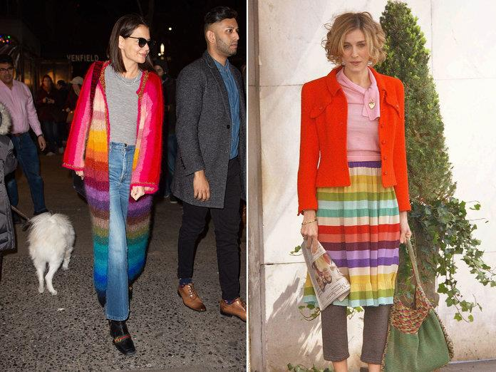 katie holmes carrie bradshaw arcoiris ECP GC IMAGES, ARNALDO MAGNANI GETTY IMAGES
