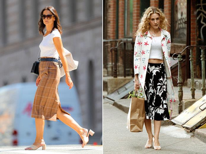 katie holmes carrie bradshaw equilibrio outfit SPLASH NEWS, TOM KINGSTON WIREIMAGE