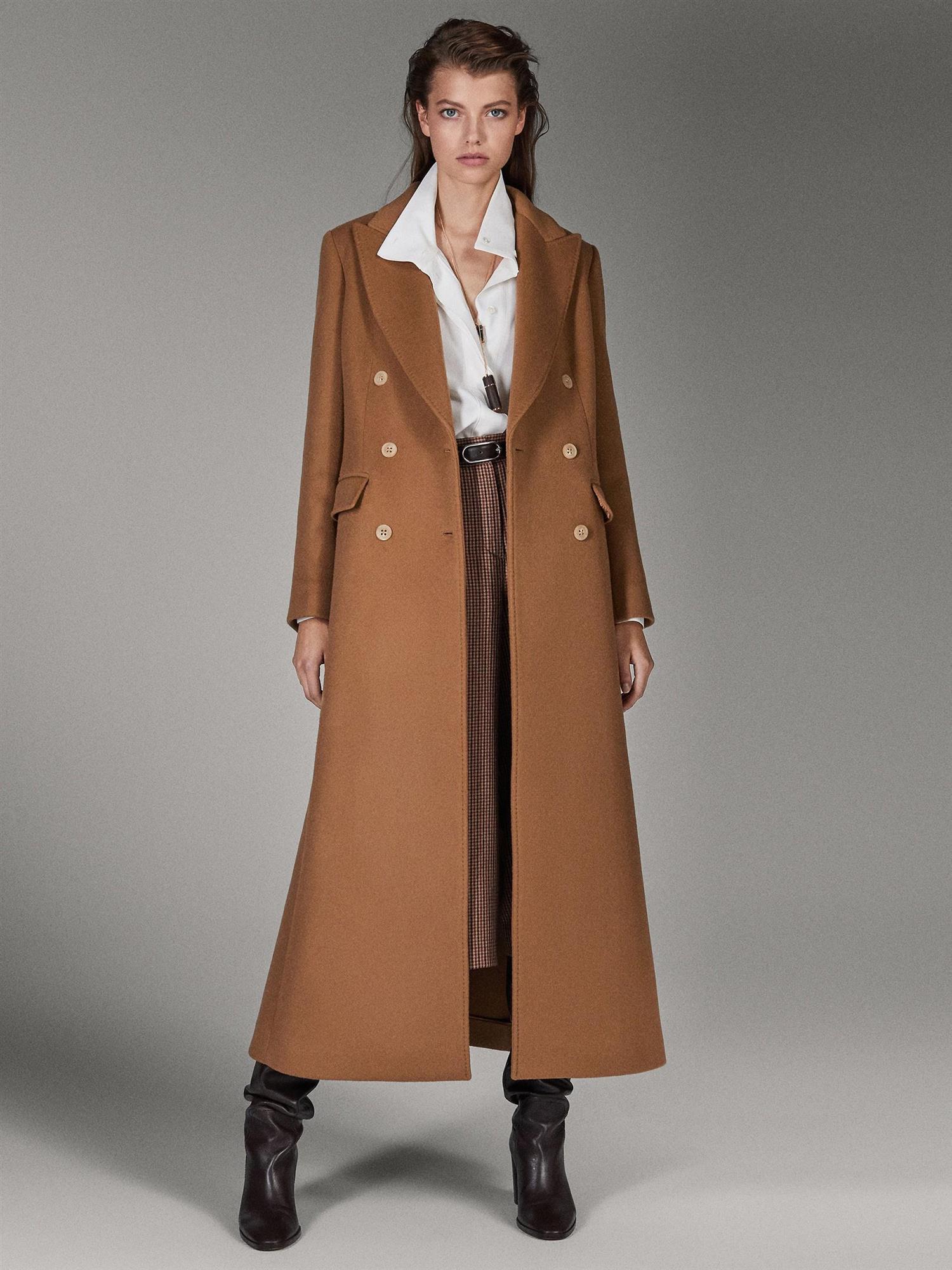 Abrigos Camel Mujer De Moda Invierno 2020 Massimo Dutti Zara Mango
