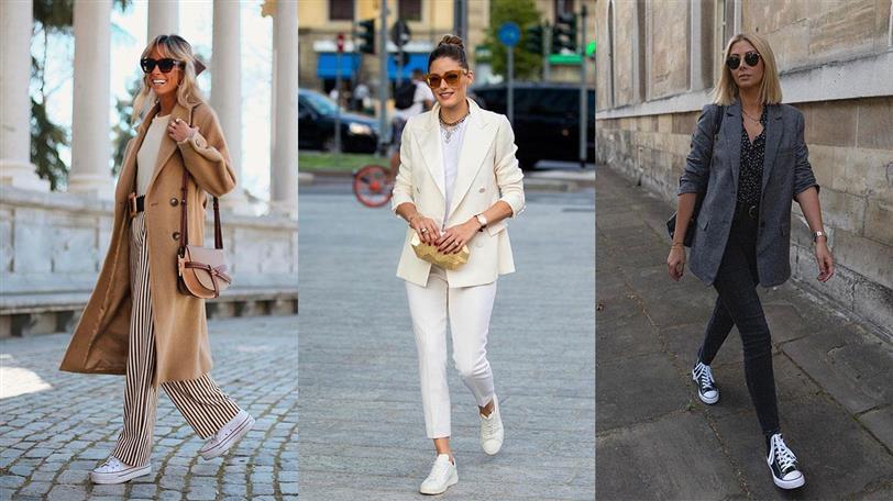 Looks con zapatillas para la oficina: 10 looks de moda