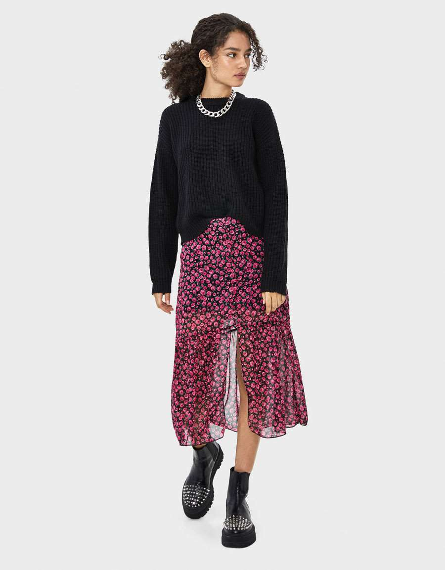 bershka-black-friday-falda-midi