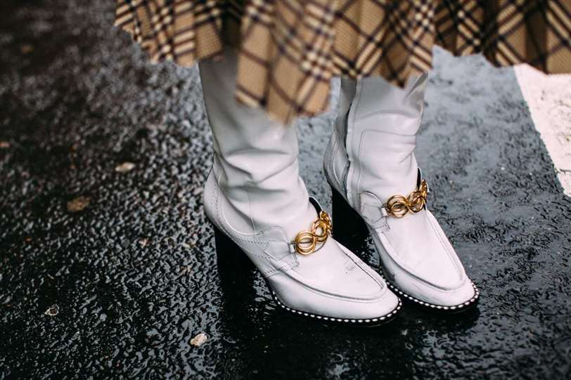 Street style London fashion week white boots