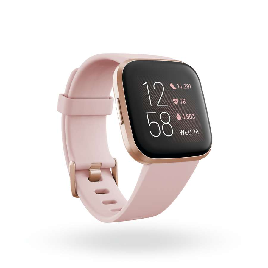 4-Fitbit Versa 2 3QTR Core Petal Copper Rose Clock Default Shadow