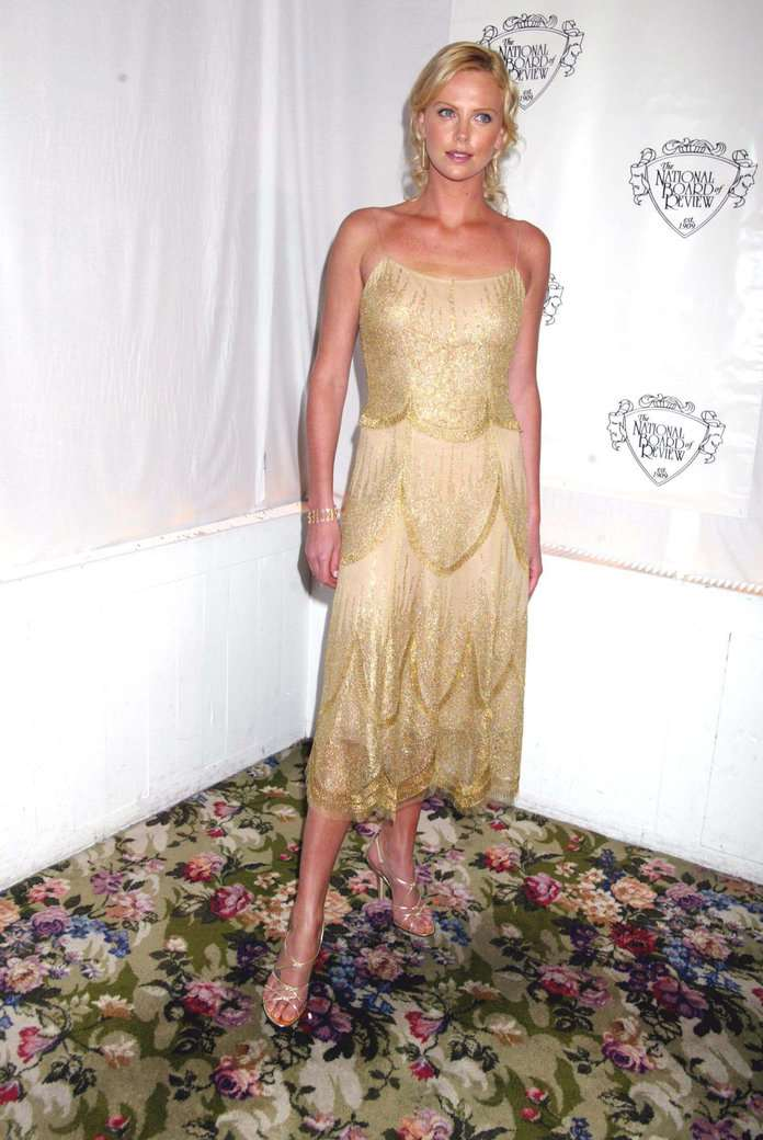 Charlize Theron Metallic Dresses - 7