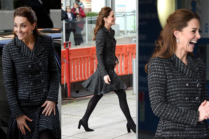 Kate Middleton con conjunto tweed
