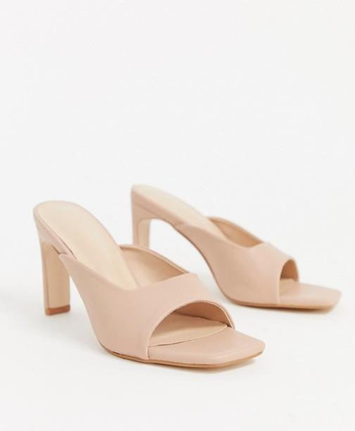 Mules color maquillaje, Asos