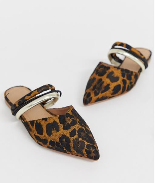 Slippers con print animal, Asos
