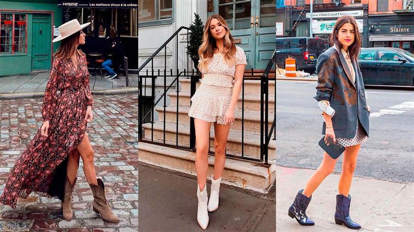Botas Y Botines Cowboy Looks De Moda Con Los Zapatos De Primavera 2020