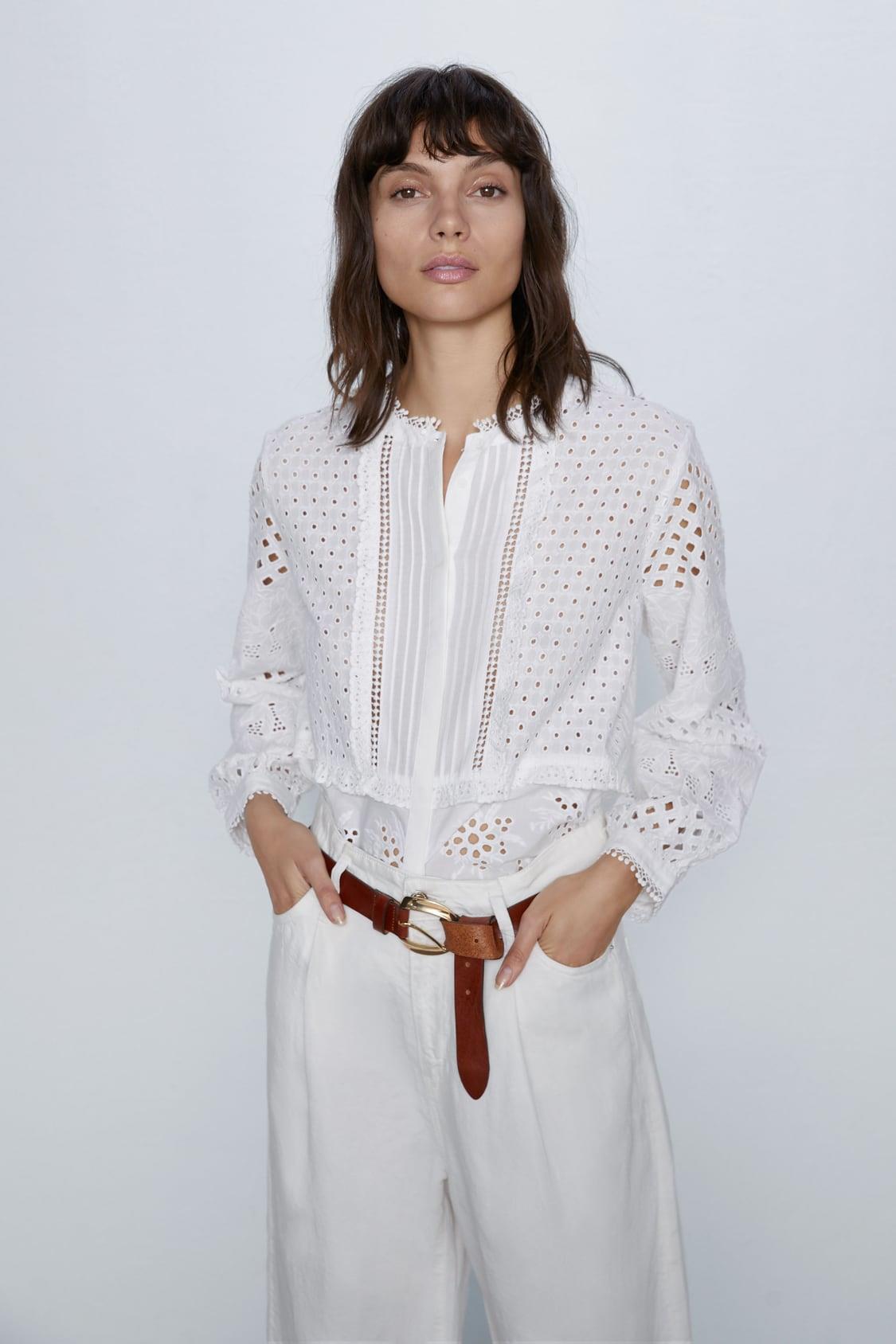 Generalizar Ese Fangoso  Camisas blancas mujer 2020: Zara, Mango y Bershka apuestan por las  románticas