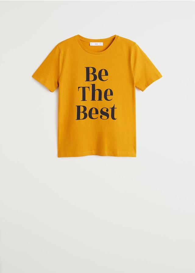 "Camiseta con mensaje ""Be the best"" de Mango"