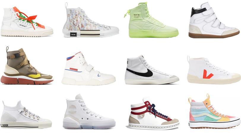 Arco iris Desear competencia  Las zapatillas altas de mujer que son tendencia en 2020: Vans, Converse,  Nike