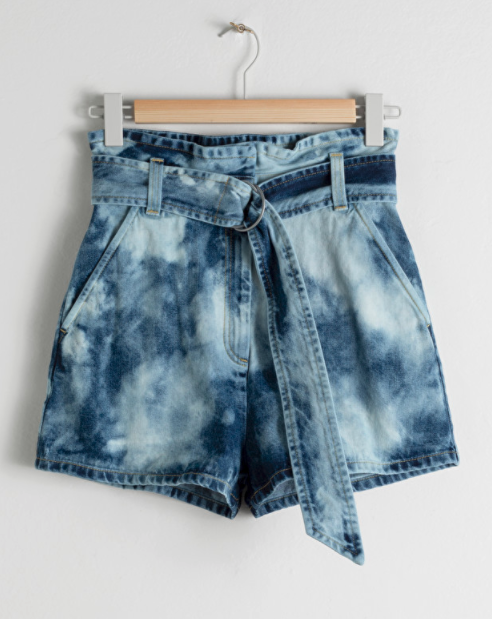 Shorts paper bag con efecto tie-dye de & Other Stories