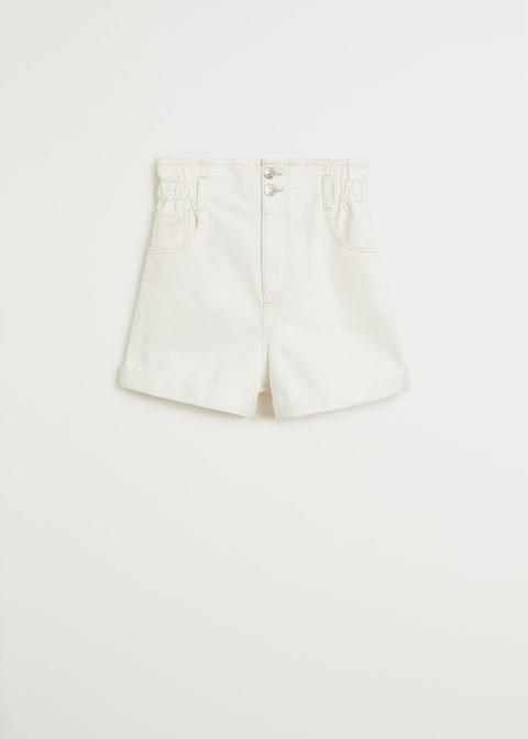 Shorts paper bag en blanco