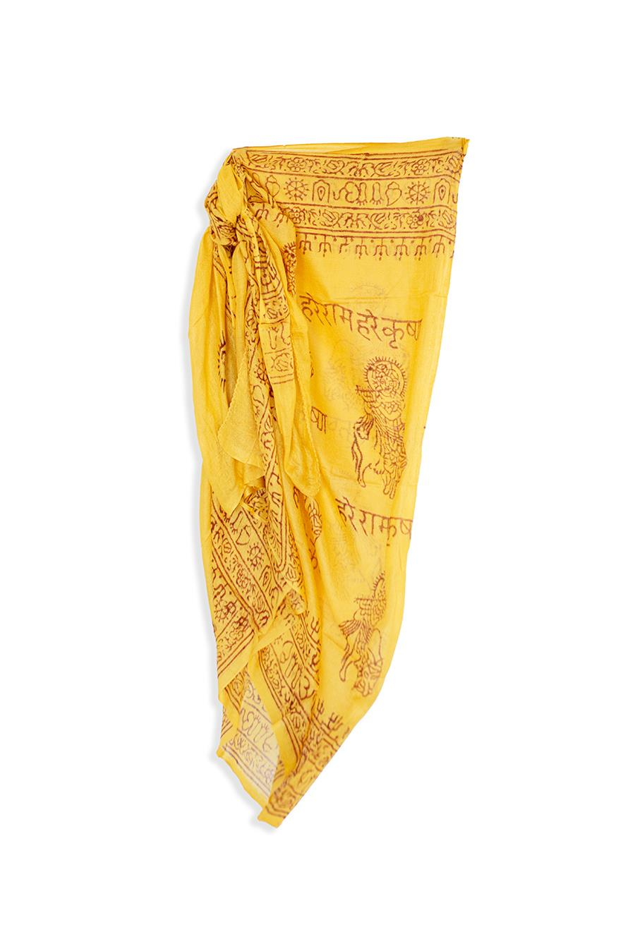 Yellow pareo skirt