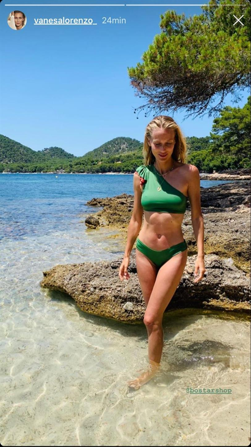 Vanesa Lorenzo con bikini verde de Bo Star