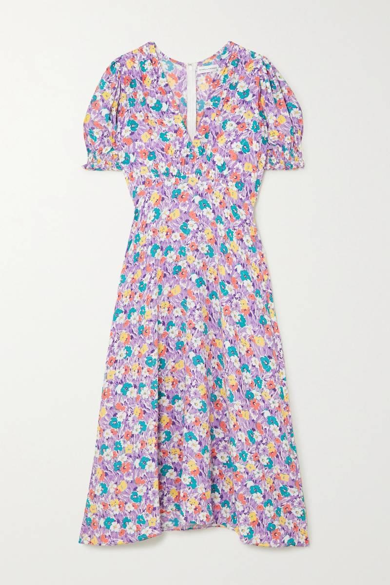 Vestido floral con manga farol, Faithfull The Brand
