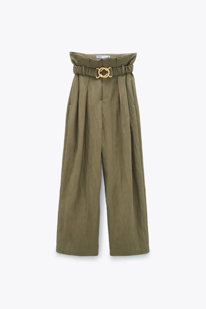 Pantalón oversize de corte masculino, Zara