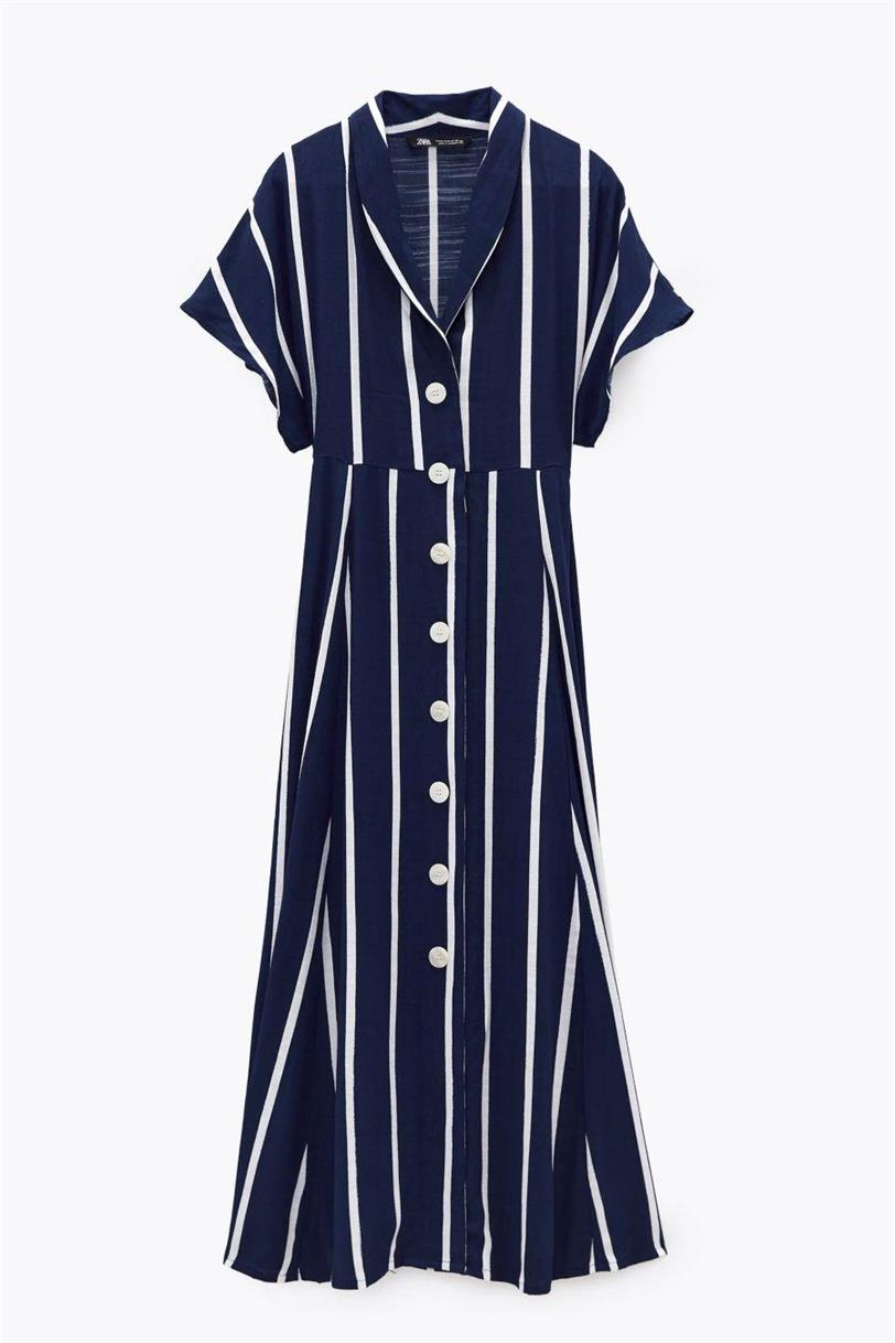vestido camisero rayas zara (1)