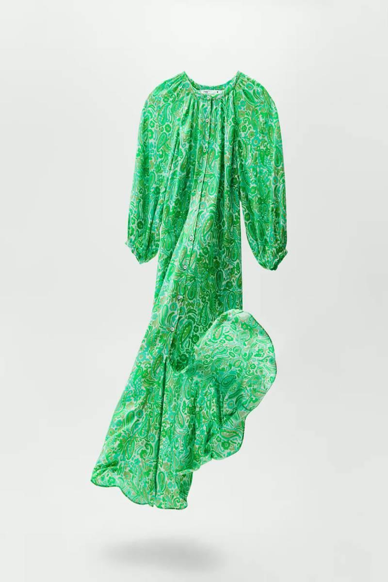 Vestido verde de Zara