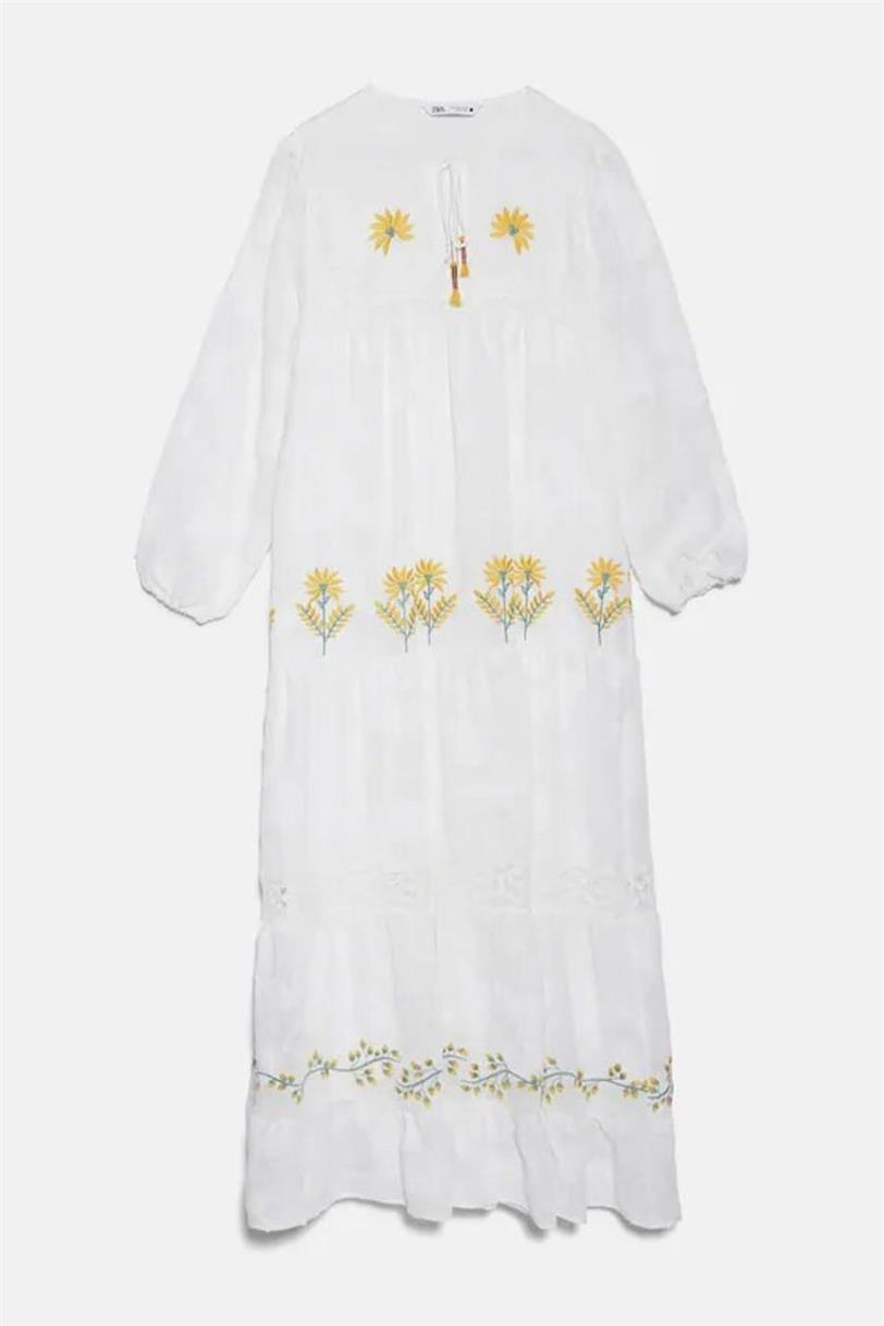 Vestido blanco de Zara