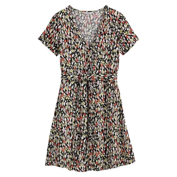 Vestido corto con print de La Redoute