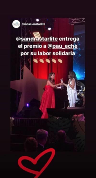 Paula Echevarría recoge un premio