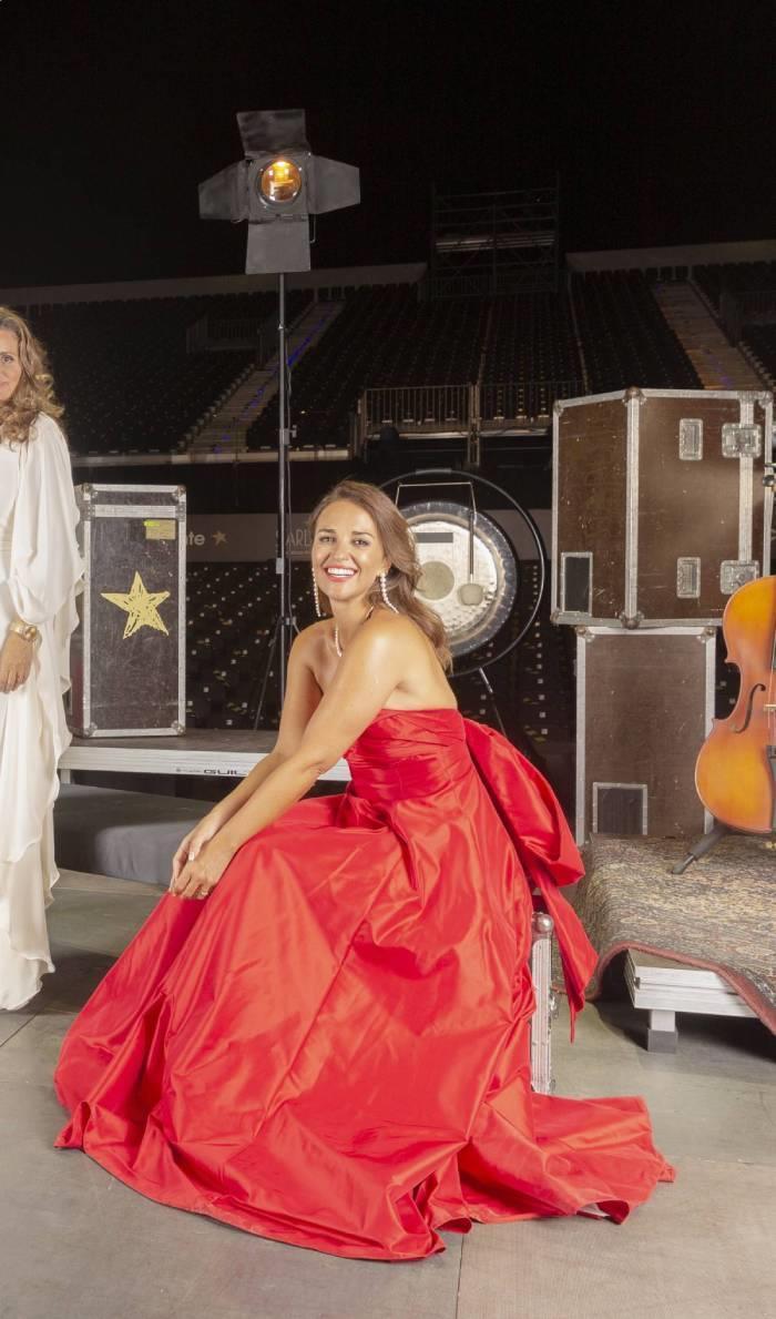 Paula Echevarría vestido rojo