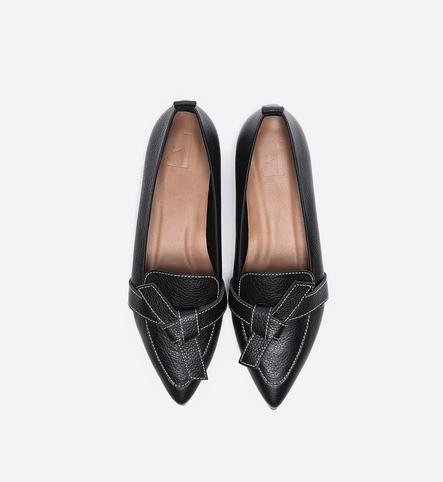 Zapatos 'Ally Leather Black' de Flattered