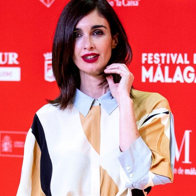 Paz Vega triunfa con un vestido camisero que parece de alfombra roja
