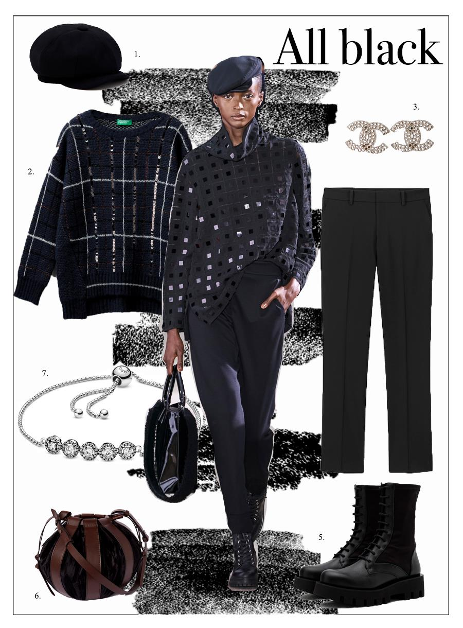 Look 5: Una oda al color negro