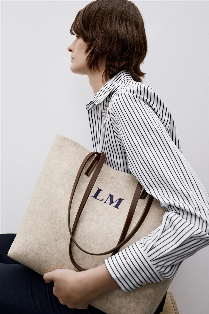 Bolso shopper de Zara personalizable