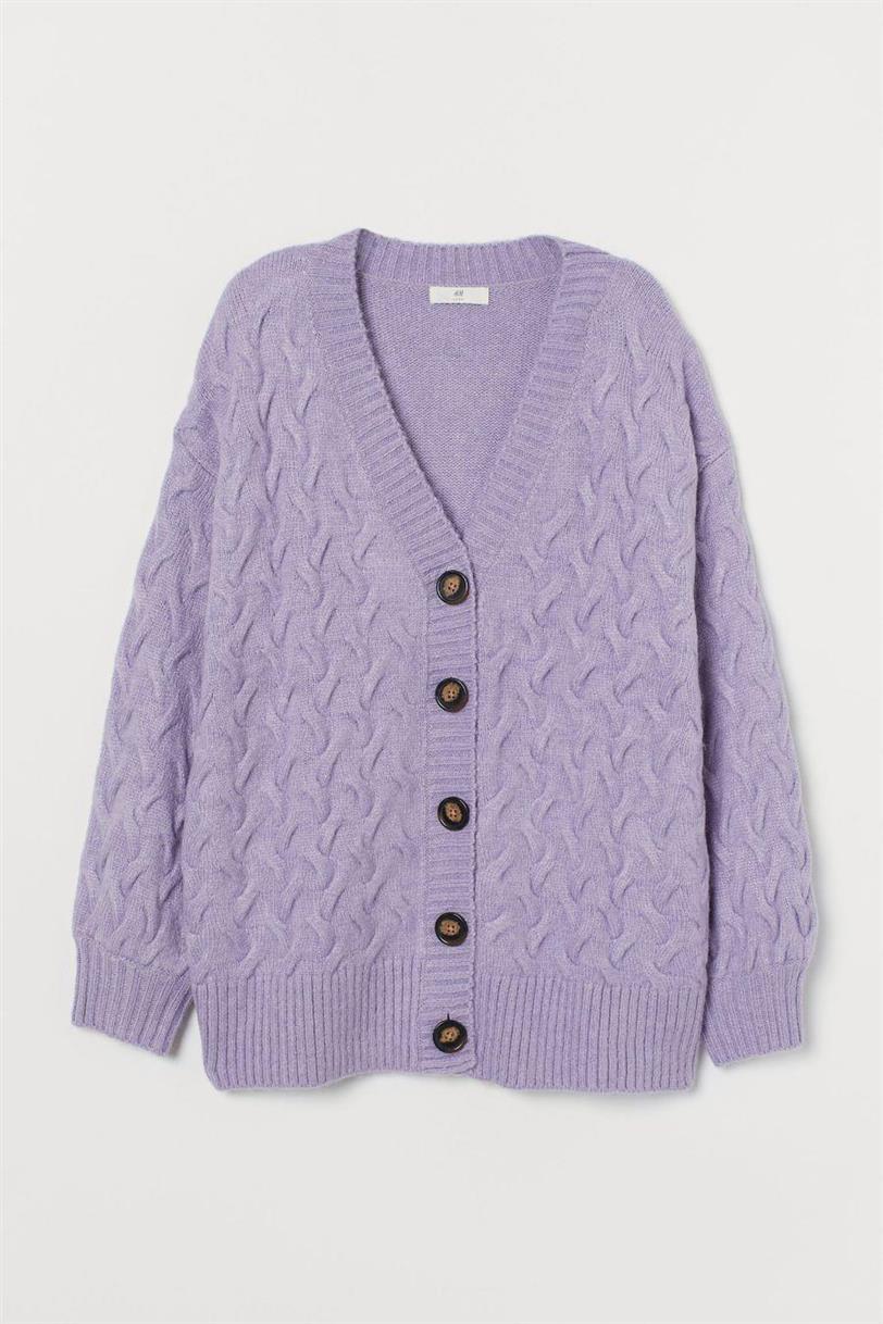 hm chaqueta lila