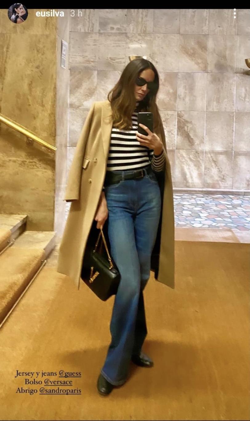 Eugenia Silva con un 'look' parisino