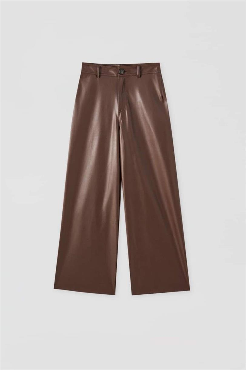 Pull & Bear faux leather trousers
